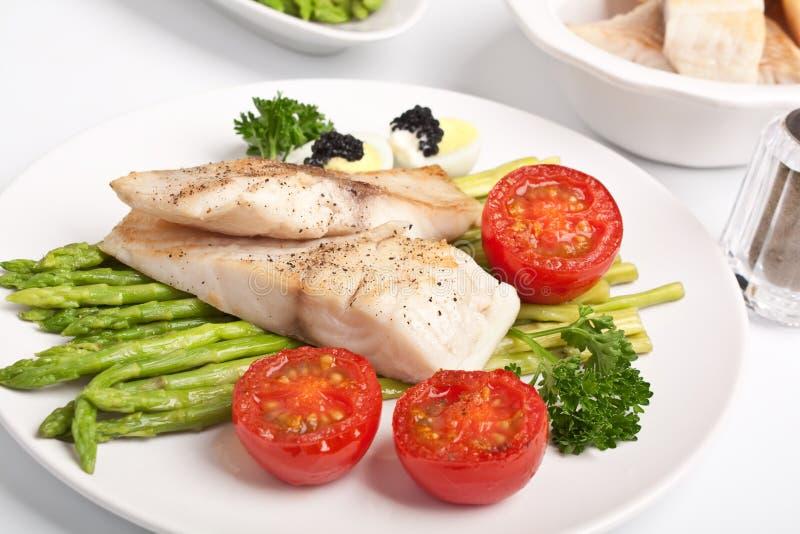 asparagus ryba obraz stock