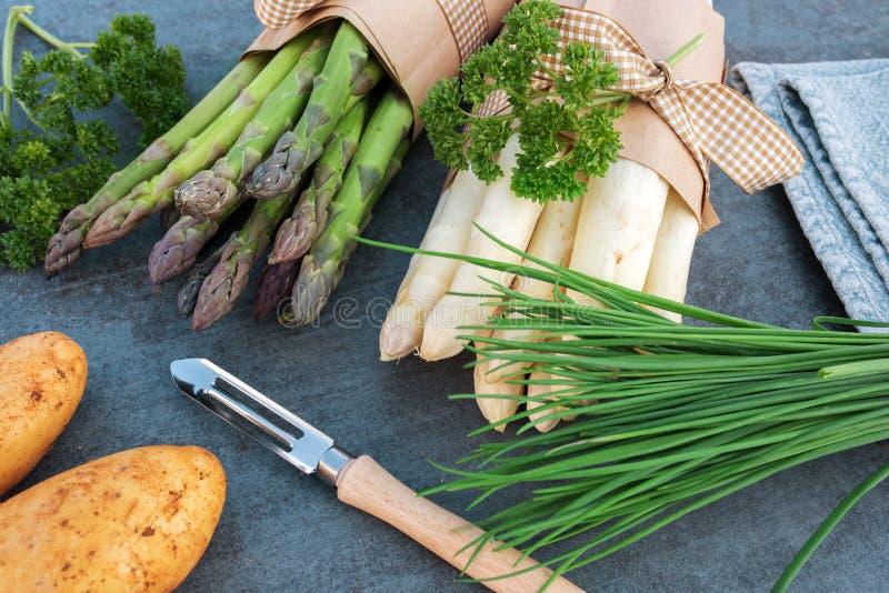 Asparagus season stock images