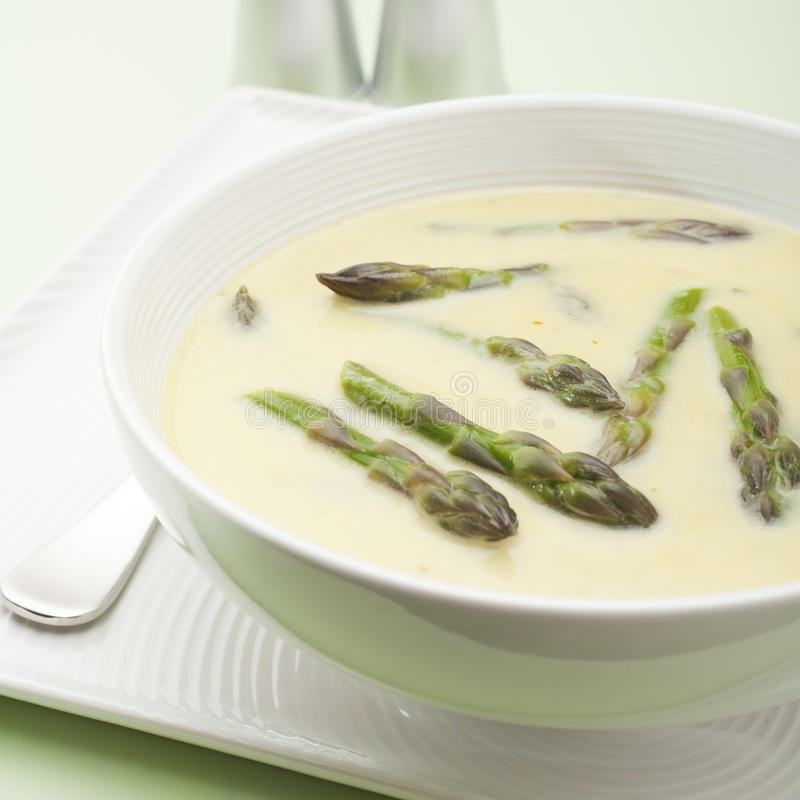 Download Asparagus Soup stock photo. Image of bowl, square, appetiser - 25087088