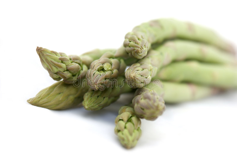 Asparagus tips royalty free stock photography