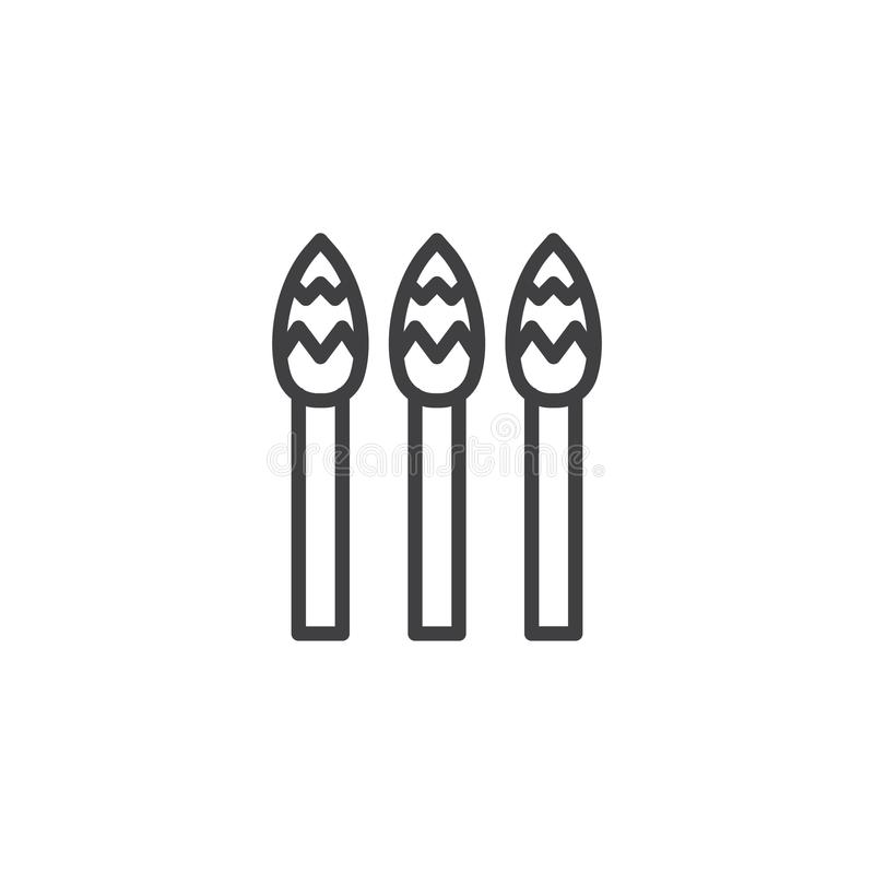 Asparagus vegetable line icon vector illustration