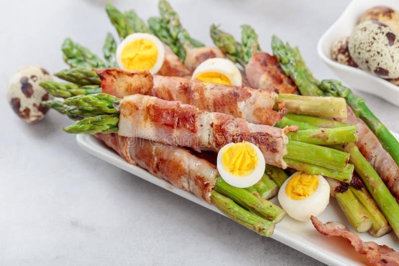 Asparagus z bekonem zdjęcie royalty free
