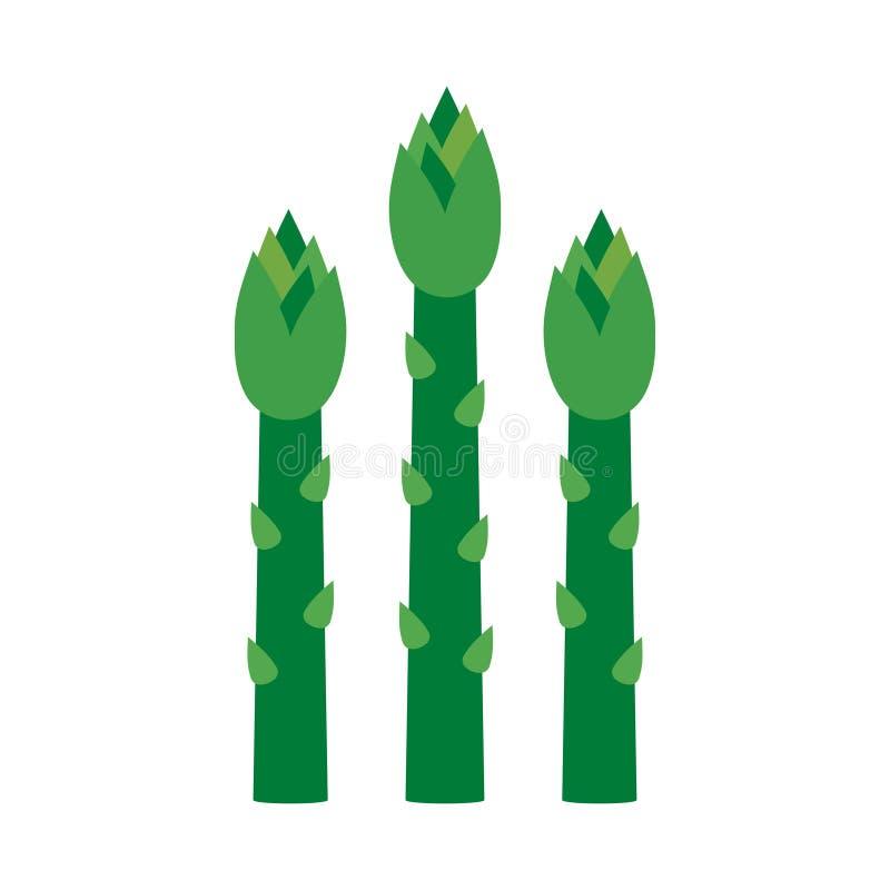 Asparagus zieleni flance royalty ilustracja