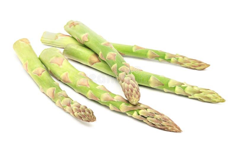 Aspargo verde maduro isolado fotos de stock royalty free