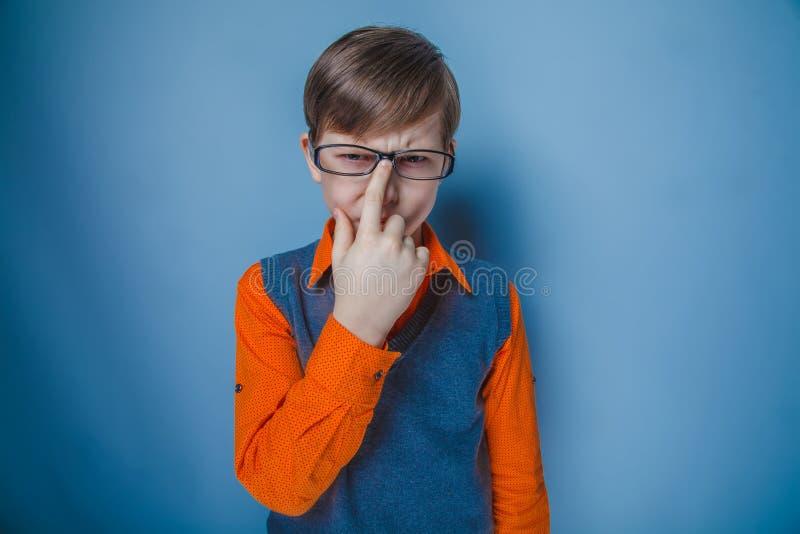 Aspect européen d'adolescent de garçon dans les cheveux bruns images stock