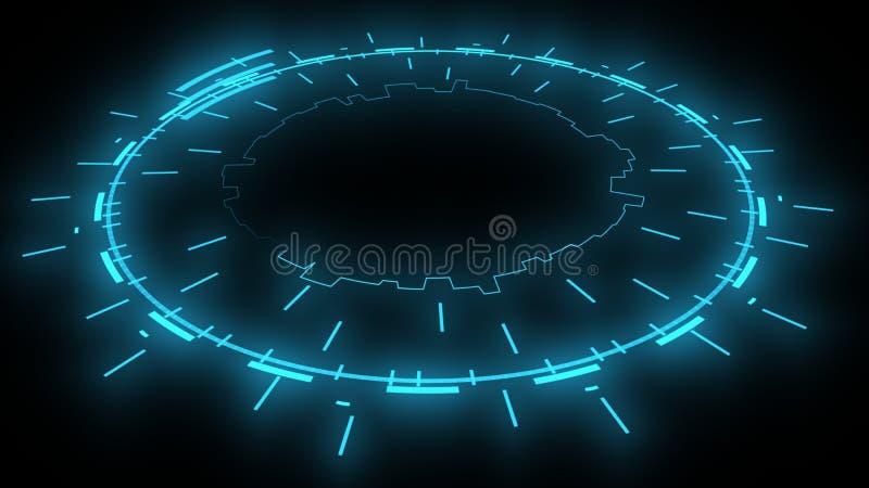 Aspecto futurista digital electrónico, representación 3d libre illustration