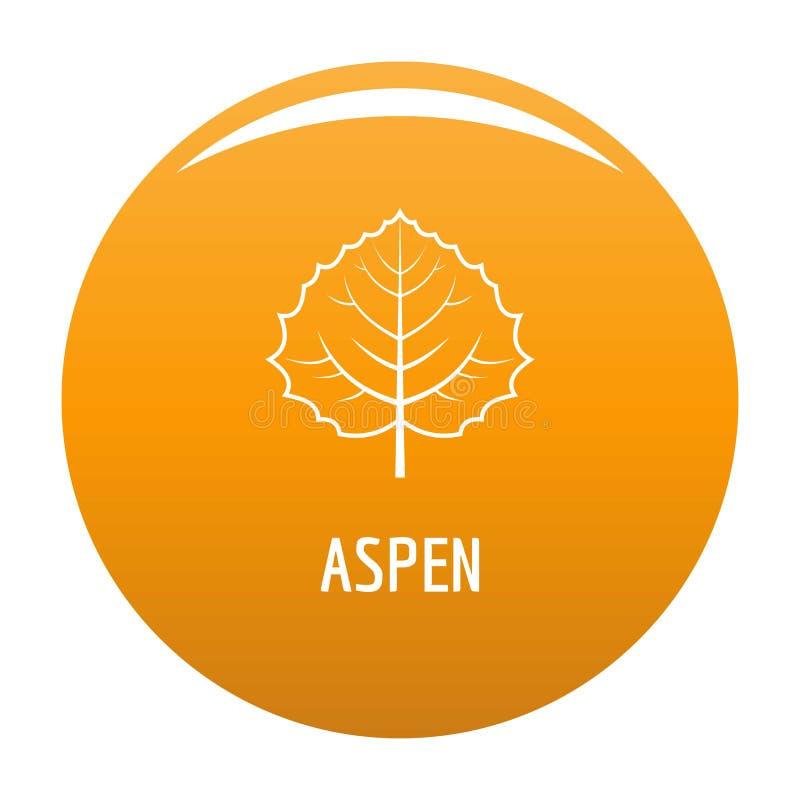 Aspen leaf icon orange. Aspen leaf icon. Simple illustration of aspen leaf icon for any design orange royalty free illustration