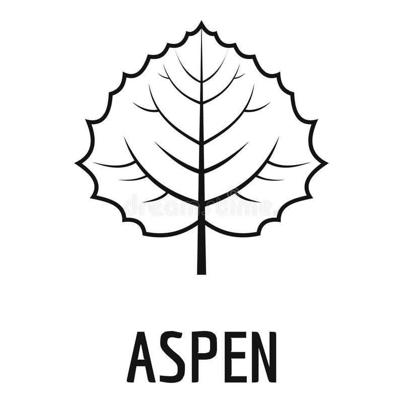 Aspen leaf icon, simple black style. Aspen leaf icon. Simple illustration of aspen leaf icon for web vector illustration
