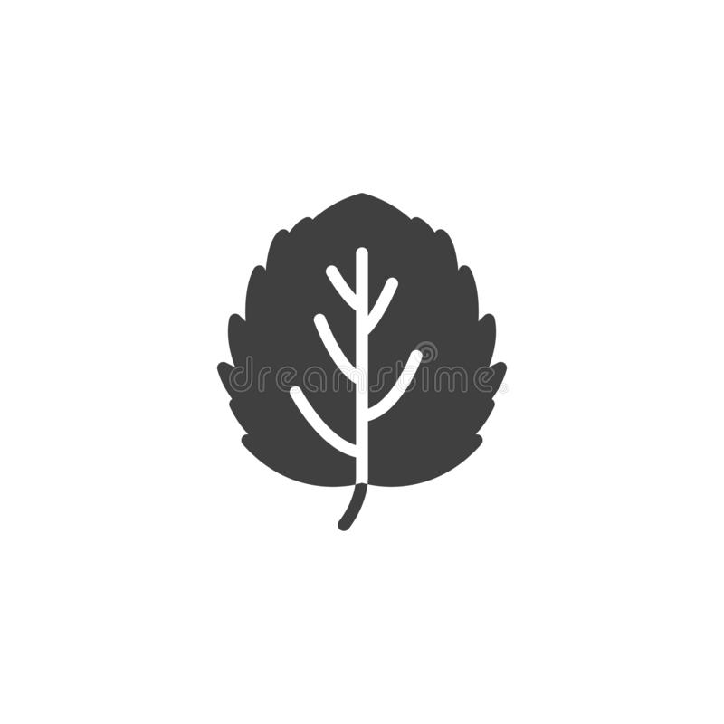 Aspen leaf vector icon. Filled flat sign for mobile concept and web design. Leaf of aspen tree glyph icon. Symbol, logo illustration. Vector graphics vector illustration