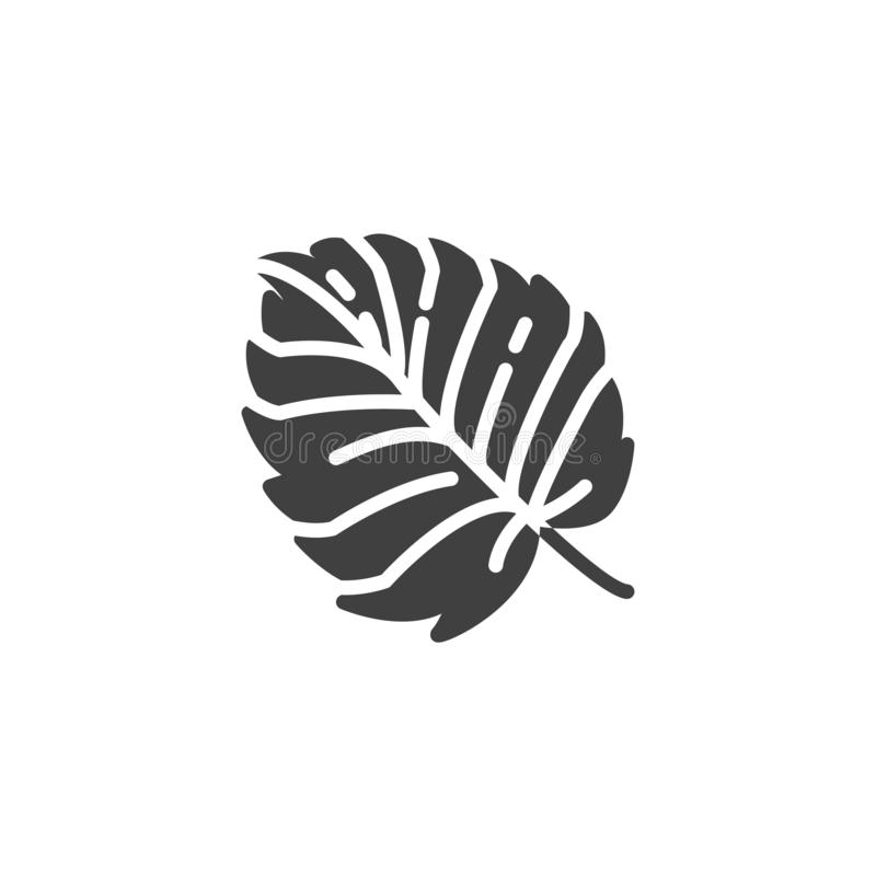 Aspen leaf vector icon. Filled flat sign for mobile concept and web design. Tree leaf foliage glyph icon. Symbol, logo illustration. Vector graphics stock illustration