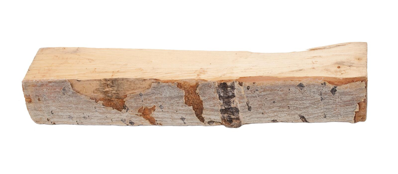 Aspen log stock photo