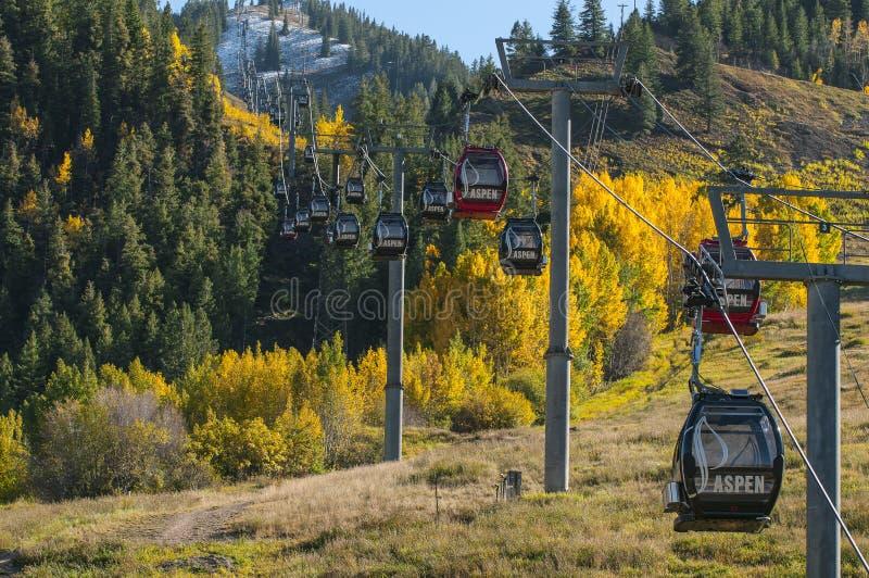 Aspen Ski Lift foto de archivo