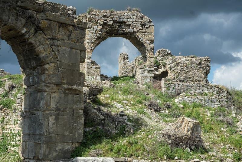 Aspendos σε Antalya Τουρκία στοκ εικόνες