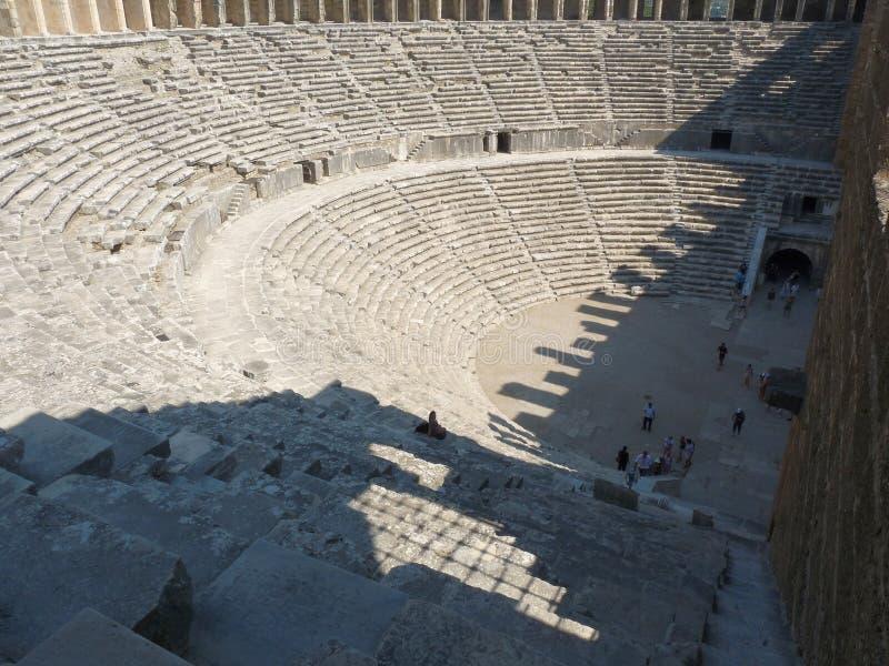 The Aspendos Amphitheatre, Anatolia royalty free stock photography