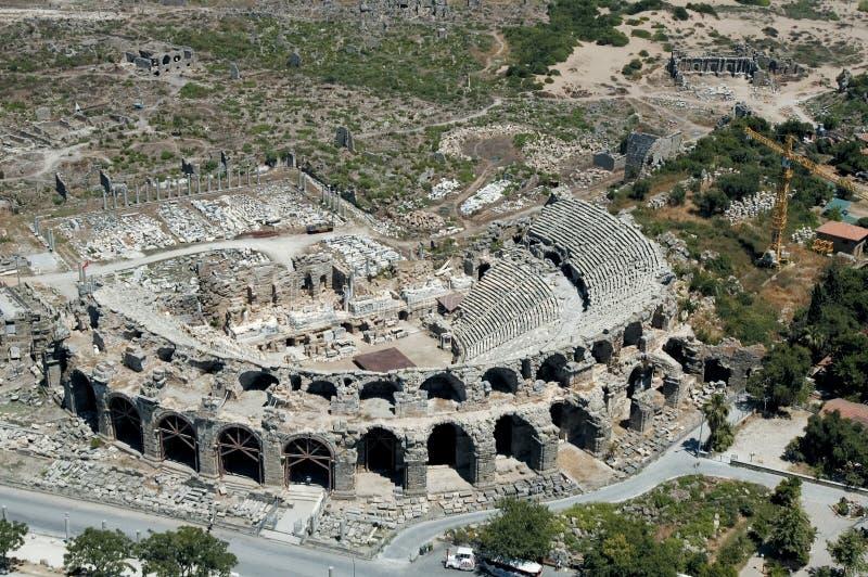 Aspendos antique theatre royalty free stock image