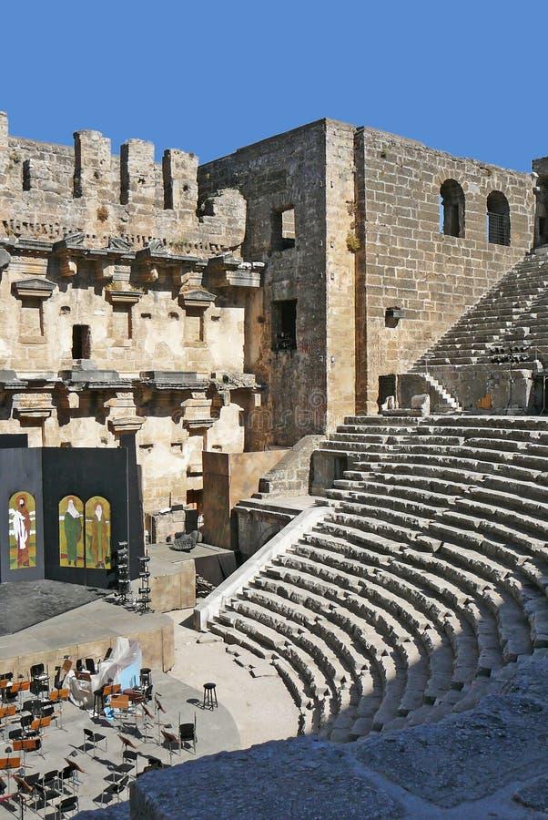 Aspendos Arena stockbild