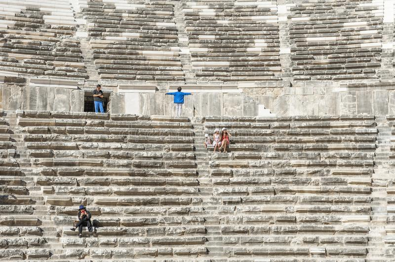 Aspendos theatre of antiquity royalty free stock images