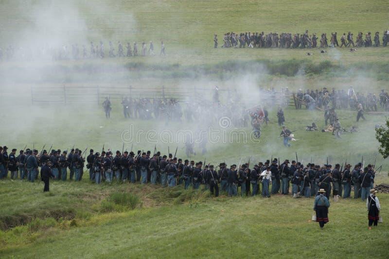 Aspetti per la guerra a Gettysburg immagini stock libere da diritti