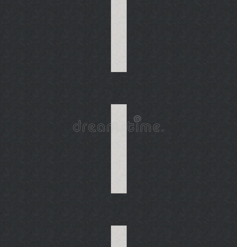 Asphalt. Computer generated road with white lines and asphalt texture stock illustration