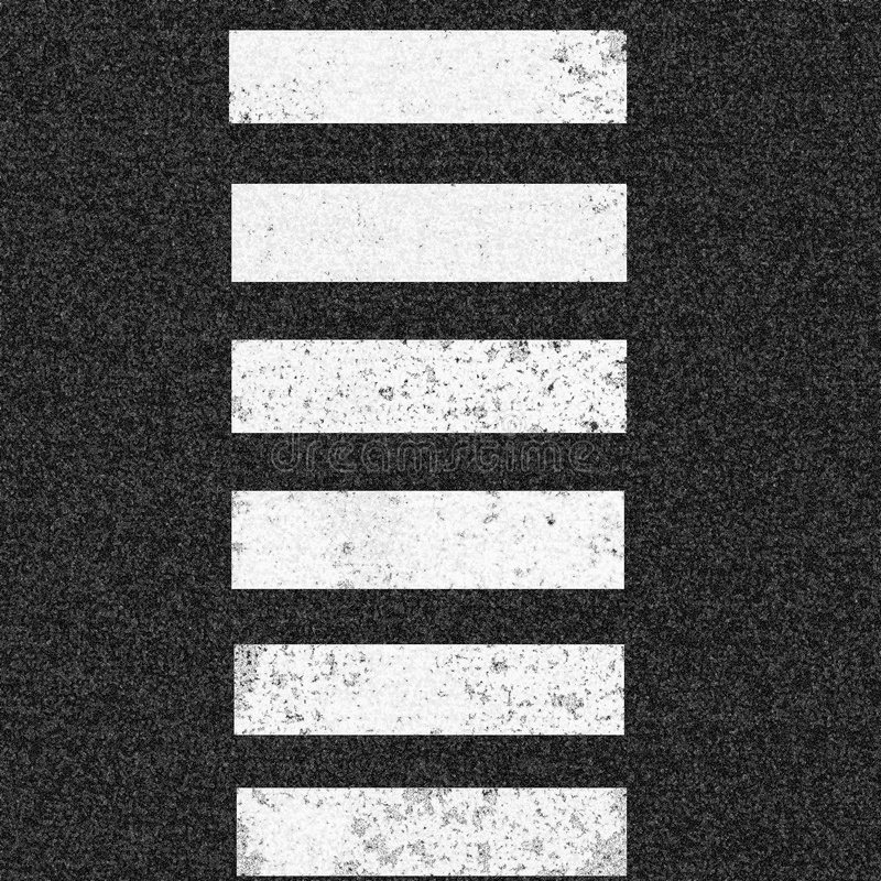 Asphalt. Background with crosswalk in the middle stock illustration