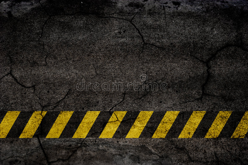 Asphalt background. Texture with construction signs vector illustration