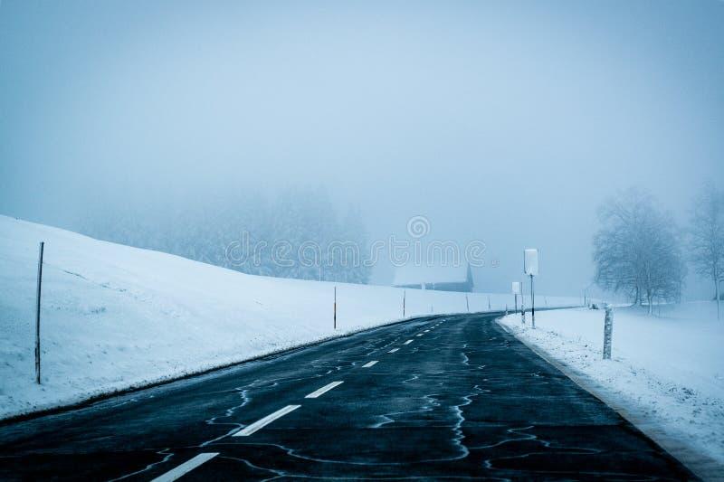 Asphalt, Cold, Fog, Foggy royalty free stock photos