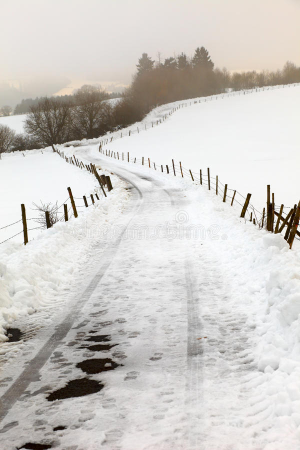 Download Asphalt country road stock image. Image of snow, pfalz - 25610423
