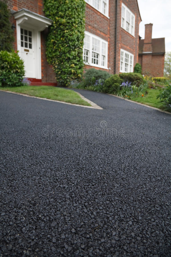 Download Asphalt drive stock image. Image of dwelling, british - 17933203