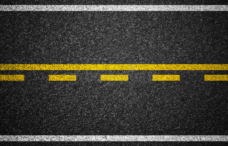 Asphalt highway with road markings texture royalty free stock photos