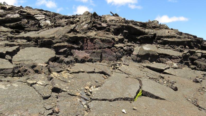 Asphalt Lava. Lava looks like asphalt inside a crater near Kilauea. Picture taken in Big Island, Hawaii stock photography