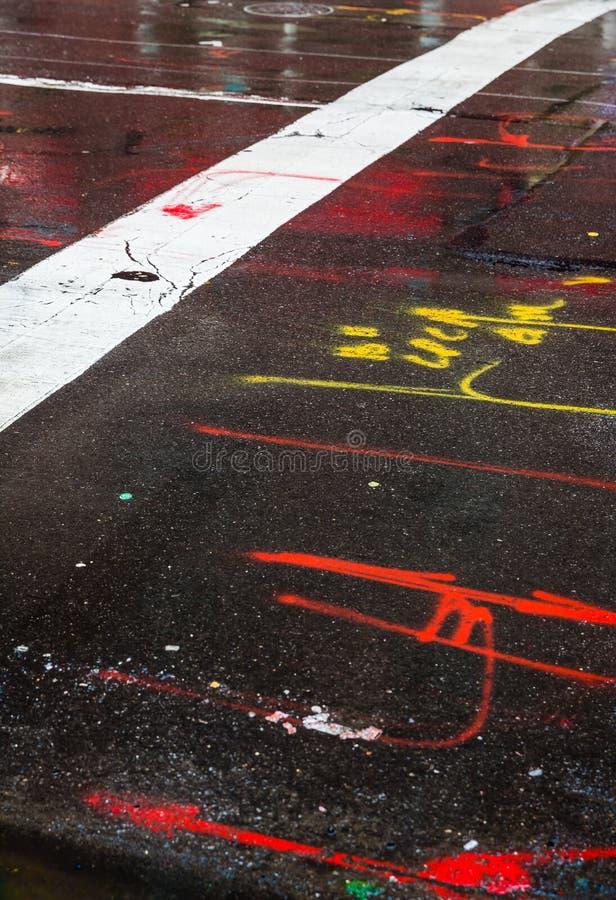 Asphalt in Manhattan, New York City lizenzfreie stockfotografie