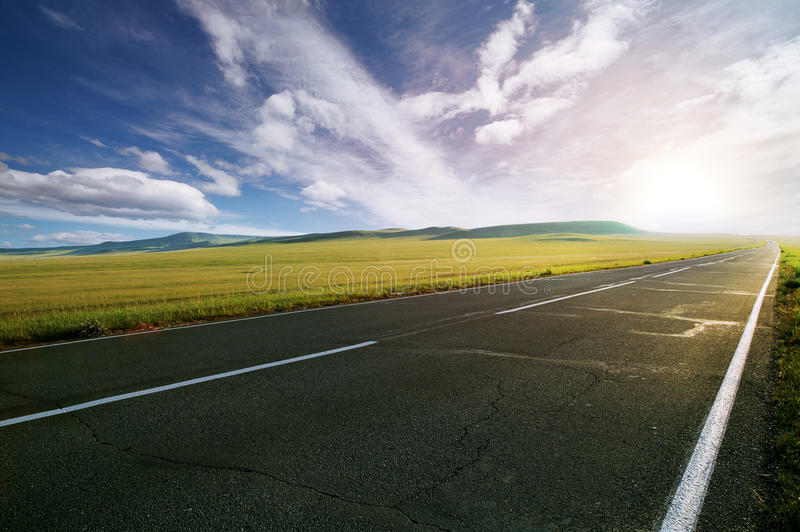 Download Asphalt road stock image. Image of outdoor, hill, race - 19972679