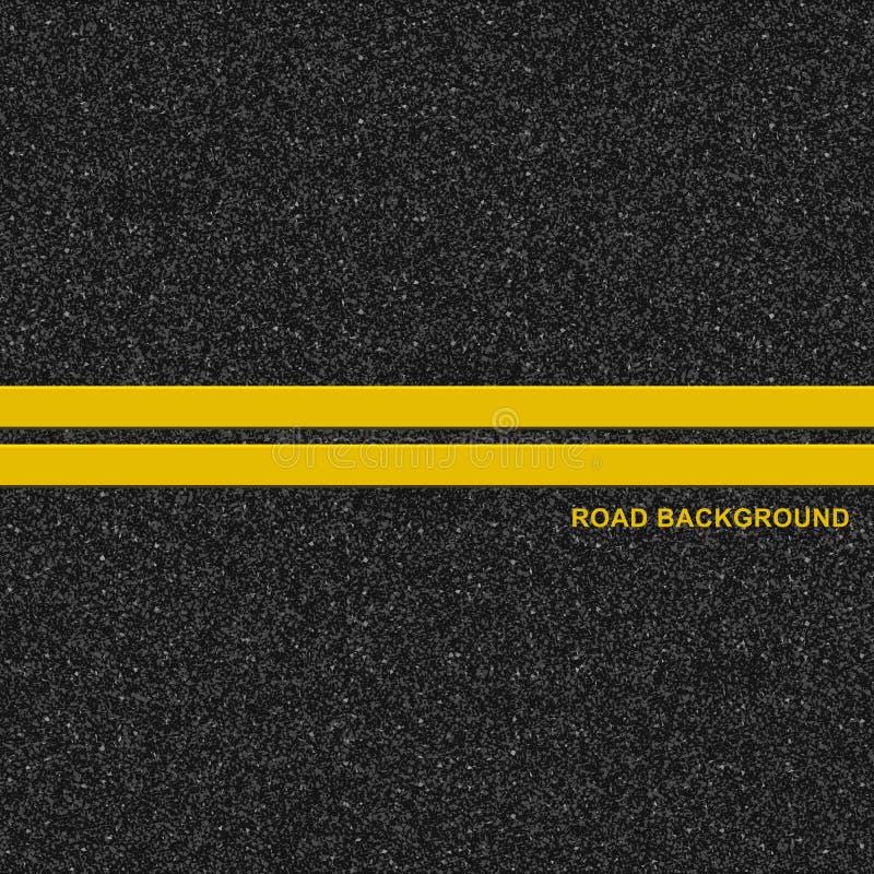 Asphalt Road Background stock illustratie