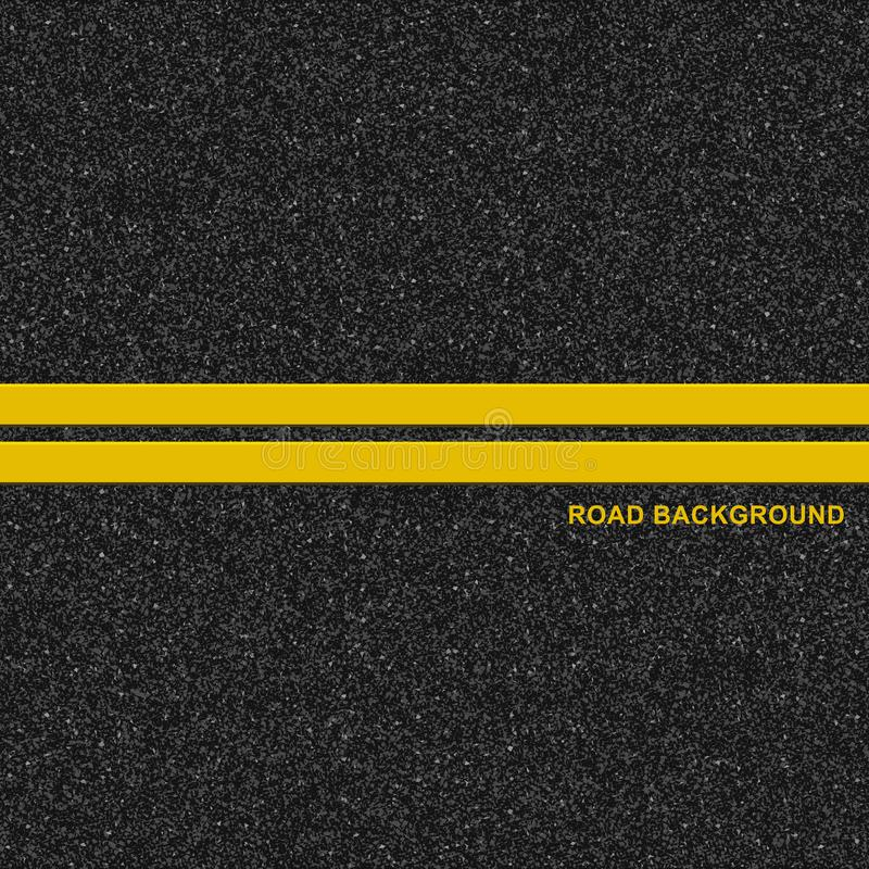 Asphalt road background stock illustration
