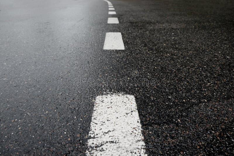 Asphalt road. Detail of traffic road stock image