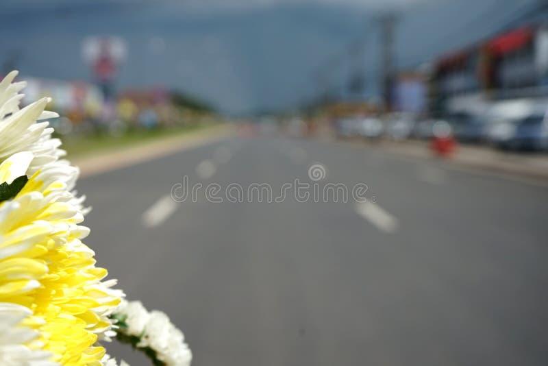 Asphalt Road i den suddiga thailandPicturen royaltyfria foton