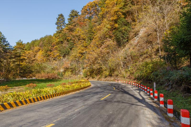 Asphalt road in the mountains stock photos