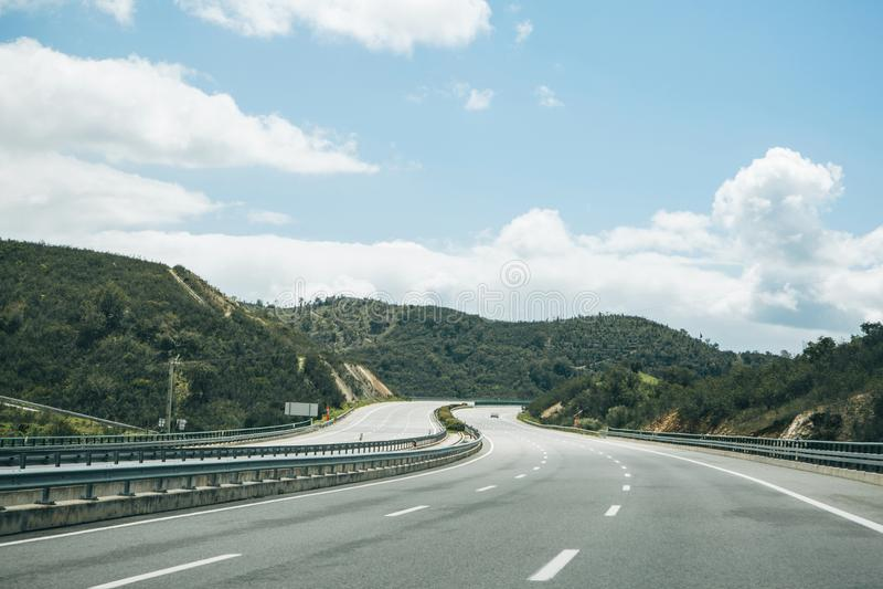 Asphalt road in Portugal. royalty free stock image