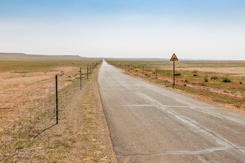 Asphalt road in steppe, Inner Mongolia stock image