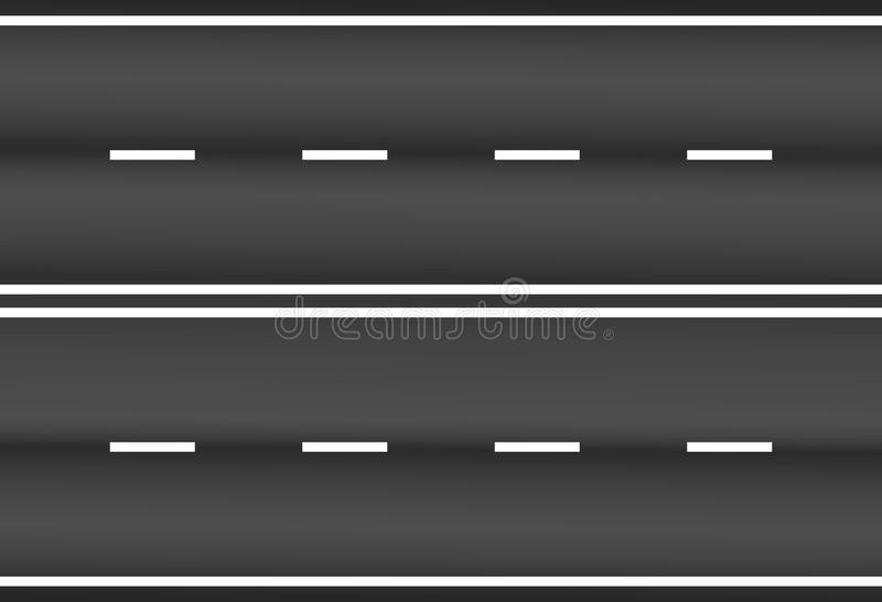 Asphalt road texture with white stripes vector eps10. Vector illustration asphalt road royalty free illustration