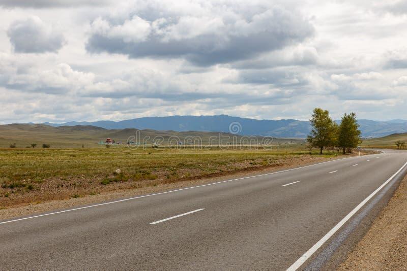 Asphalt road Ulan-Ude - Kyakhta stock image