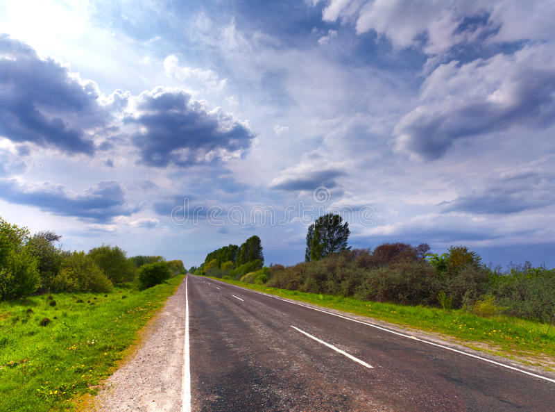 Asphalt roads in summer royalty free stock images