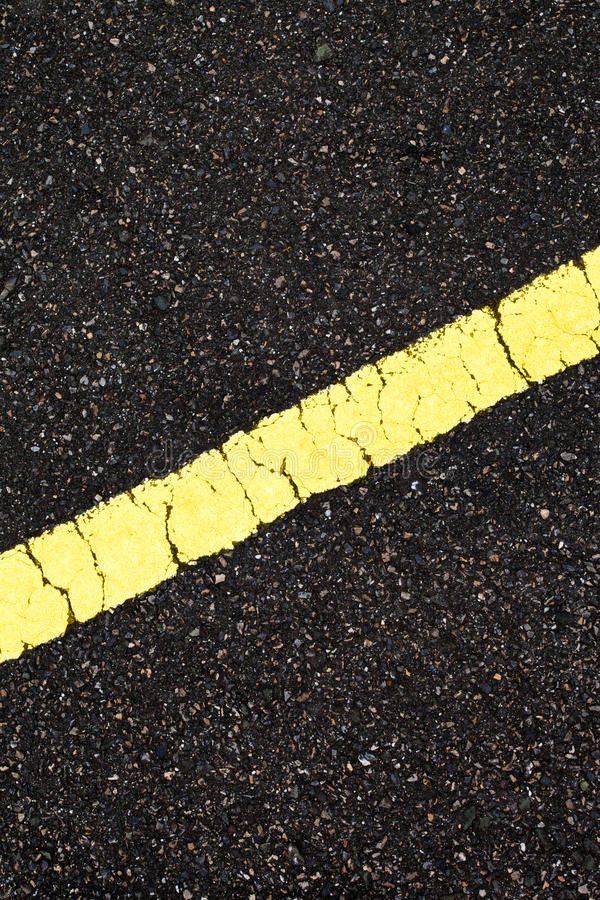Asphalt With Slope Yellow Line Stock Image