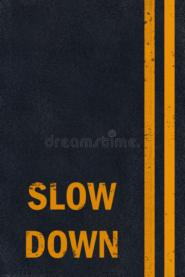 Free Asphalt Slow Down Marking Royalty Free Stock Photos - 6645088
