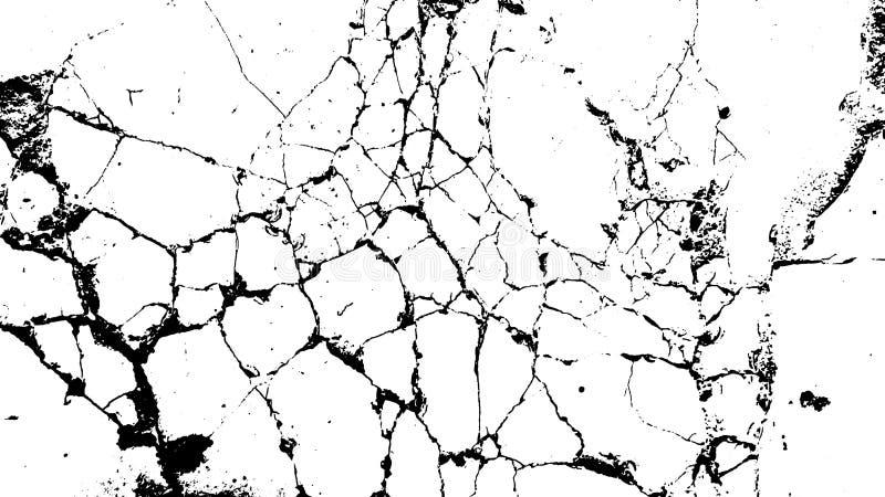Asphalte grunge endommagé noir de dommages de fond grunge de texture de calibre d'illustration d'encre de détresse concrète illustration libre de droits