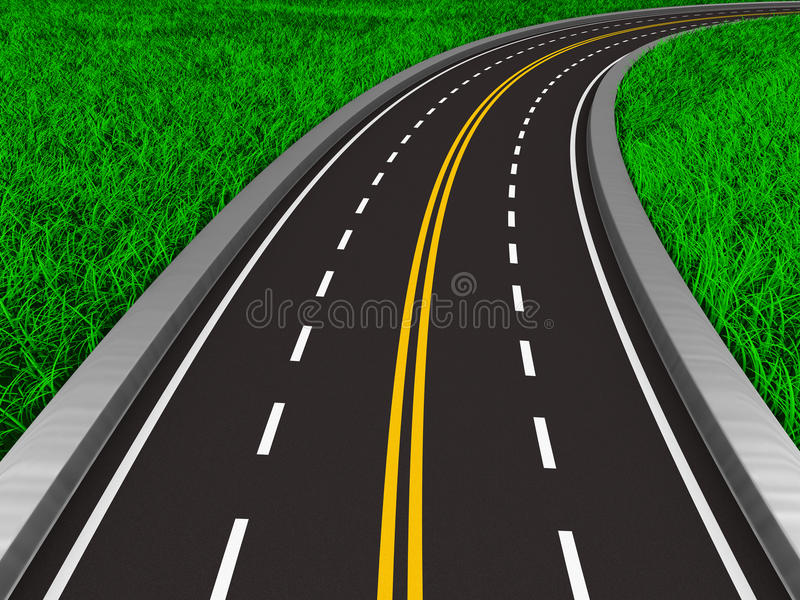 Download Asphalted Road On Grass Royalty Free Stock Images - Image: 33484799