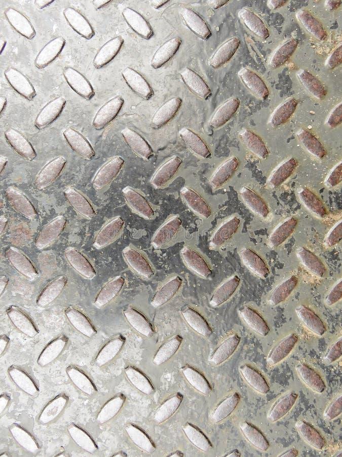 Asphaltieren Sie Hintergrund, die Perforierung, die vom Metall gemacht werden oder Eisen stockbilder