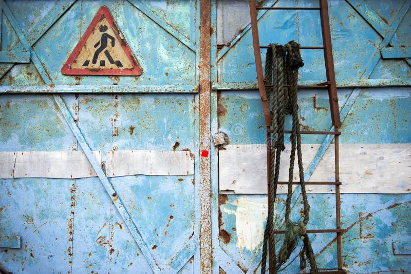 Asphaltieren Sie Rost-Hintergrund, Metallrost-Beschaffenheit, Rost, Zerfallmetallbac stockbild