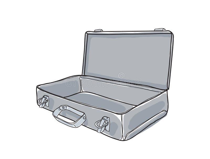 Asphaltieren Sie Vektor-Kunst illustrat des Dachbodens des Werkzeugkastens industrielle Hand gezeichnetes stock abbildung