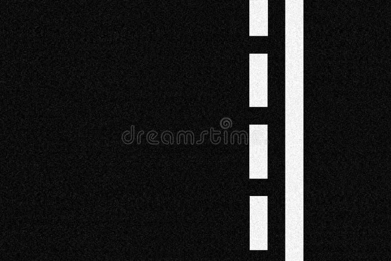 Asphaltstraße- und Verkehrszeilen vektor abbildung